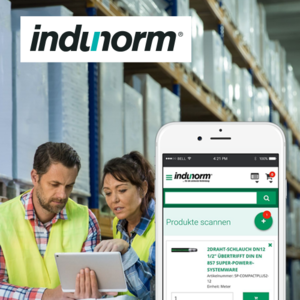 Indunorm PWA Scanner-App für Schnellbestellungen Case Study
