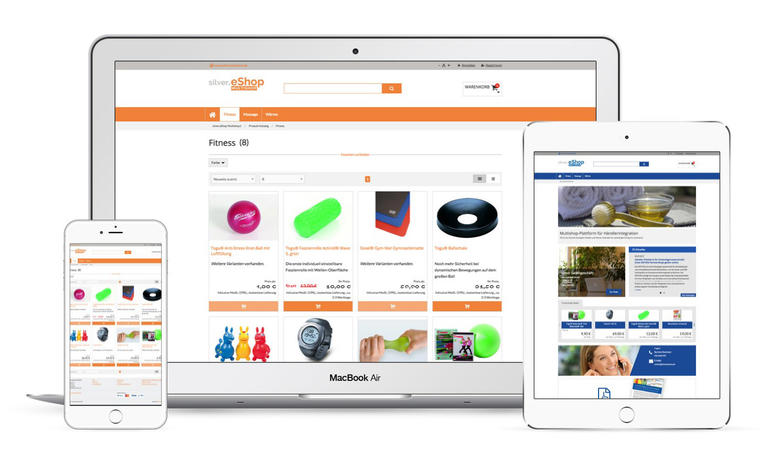 silver.eShop Multishop on various devices