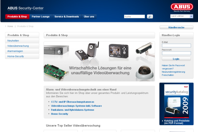Screenshot ABUS Security Center GmbH