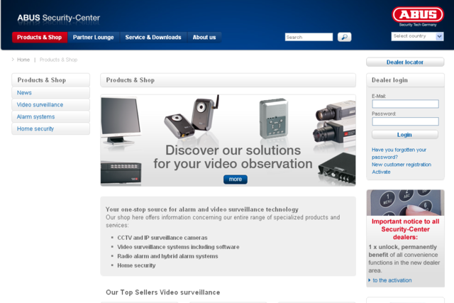 Screenshot ABUS Security Center GmbH