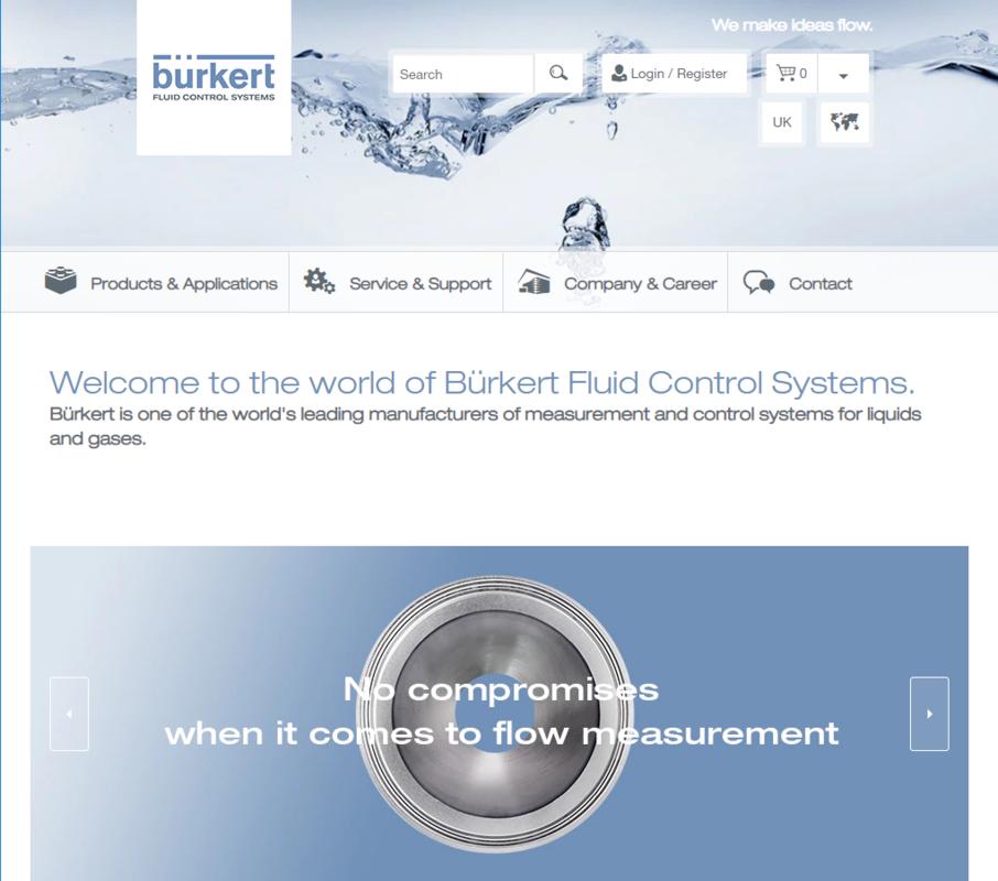 Bürkert Homepage EN