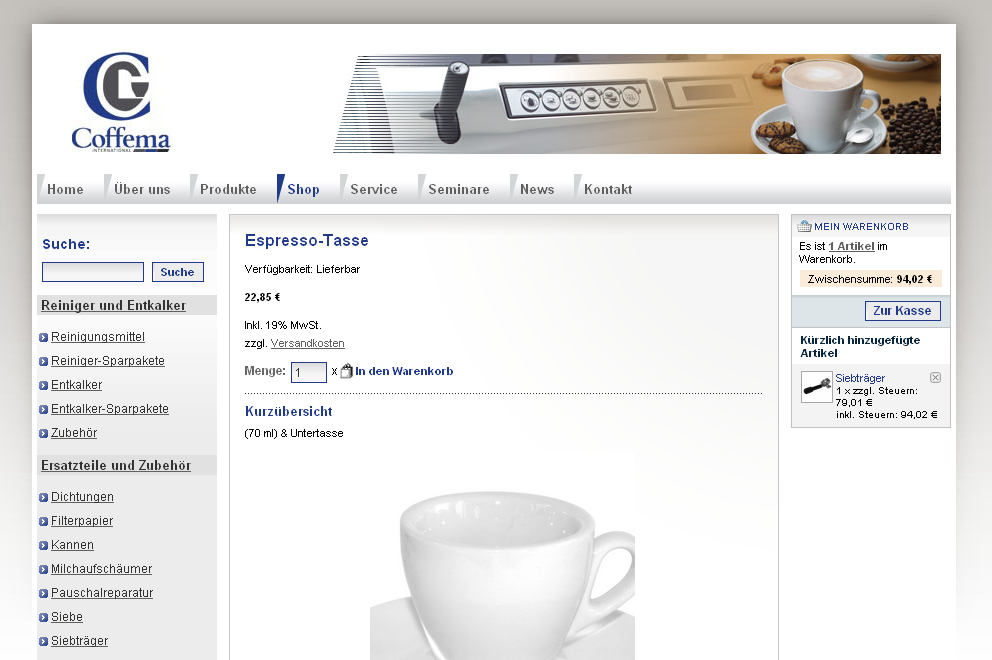 Coffema Screenshot Detail