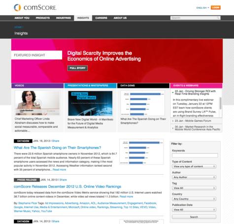 Comscore Screenshot - Insights