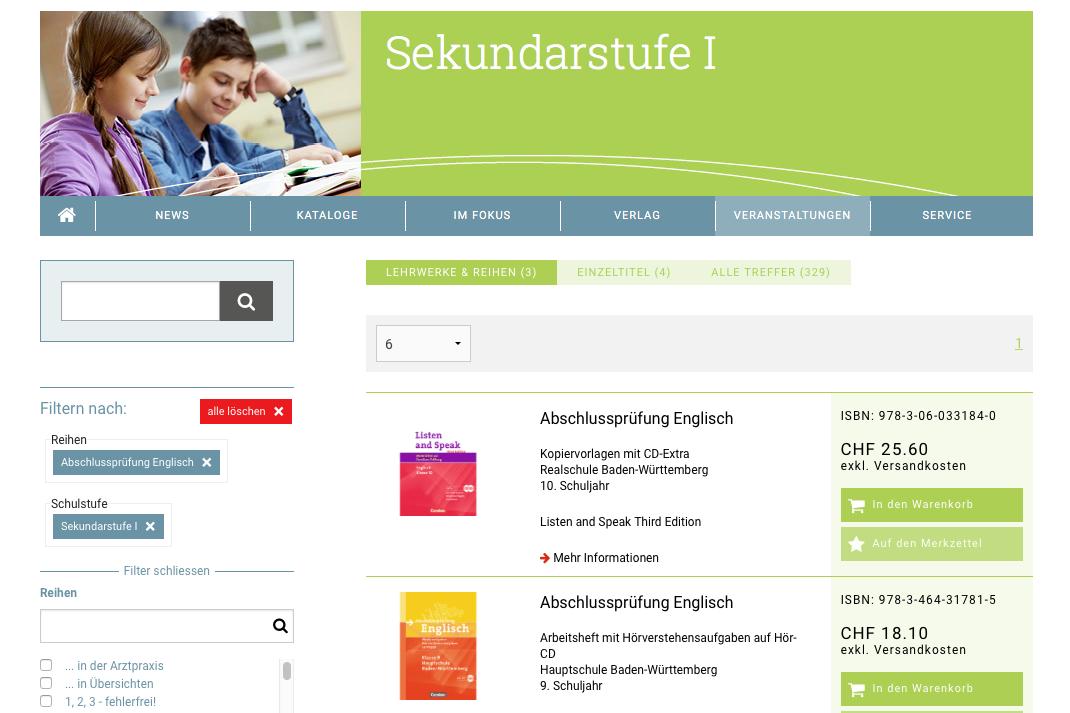 Cornelsen Schweiz - Produktsuche