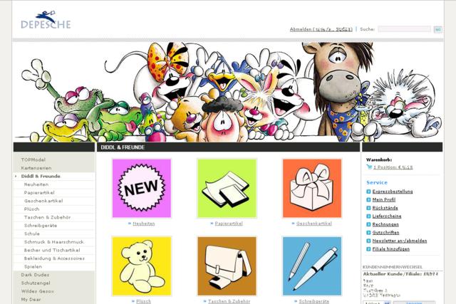 Depesche Screenshot Markengruppe