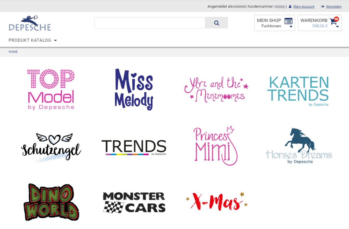 Depesche B2B Onlineshop Homepage