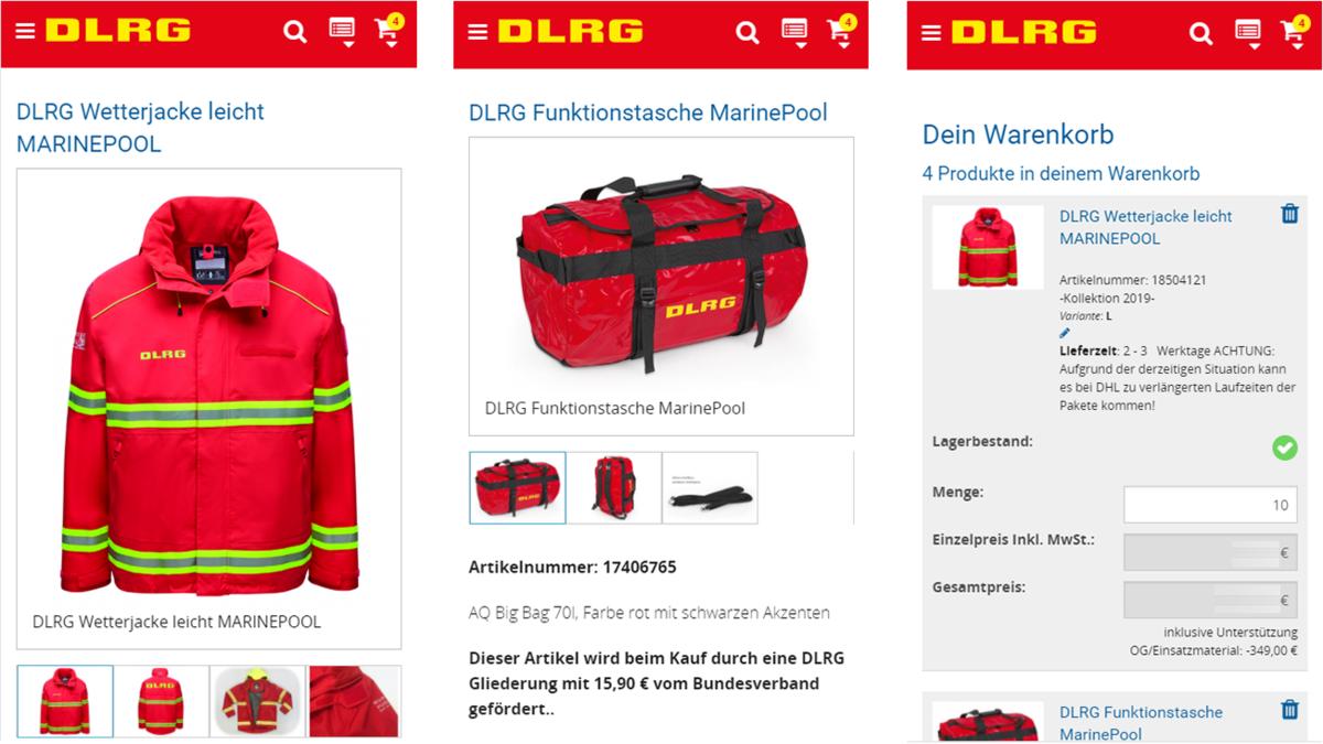 DLRG Mobile Collage 2021