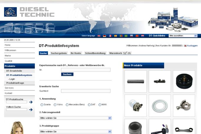 DT-DIESEL TECHNIC AG – B2B-Online-Shop