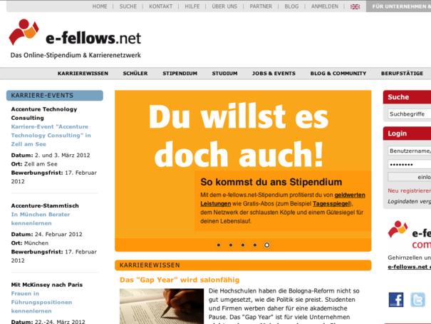 e-fellows.net Startseite