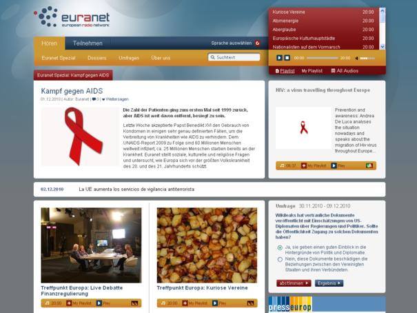 Euranet Startseite Relaunch