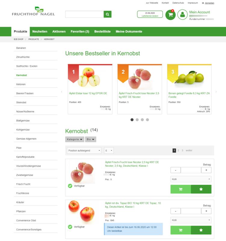 Fruchthoft B2B Shop