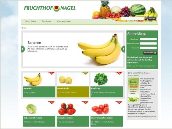 Fruchthof Homepage Screenshot