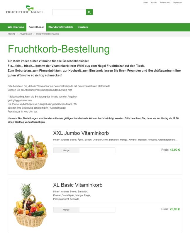 Fruchthof Nagel Website Fruchtbazar