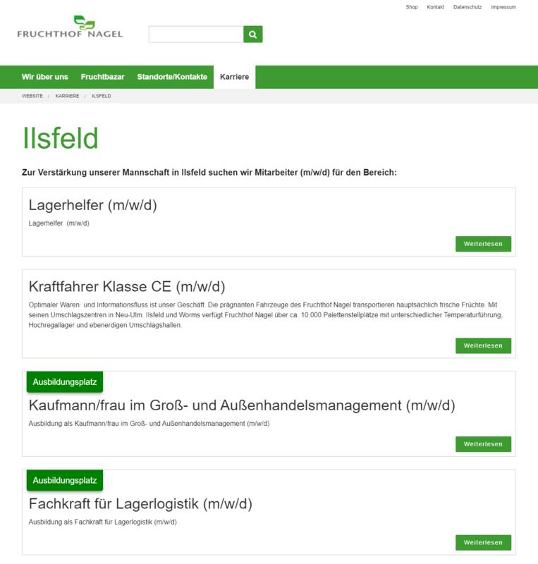 Fruchthof Nagel Website Jobs