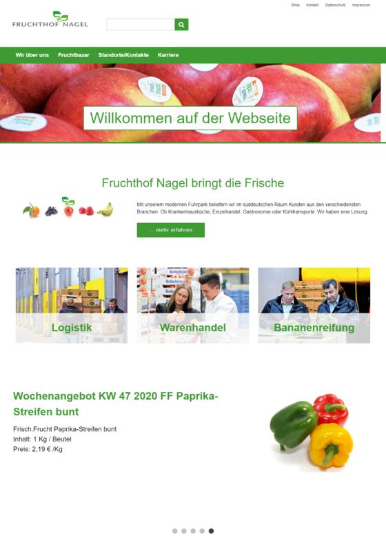 Fruchthof Nagel Website Startseite