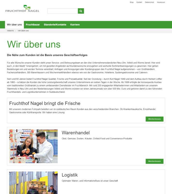 Fruchthof Nagel Website Über uns