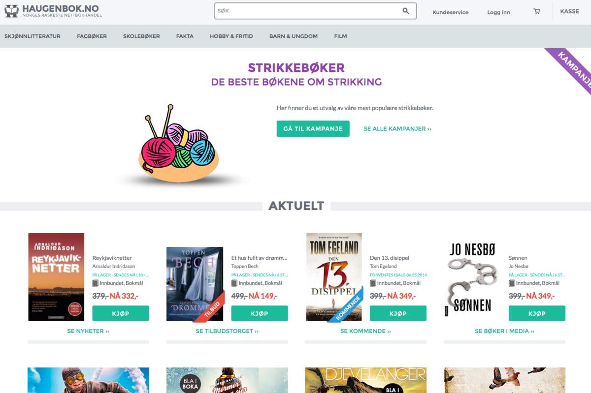 Haugenbok.no Homepage