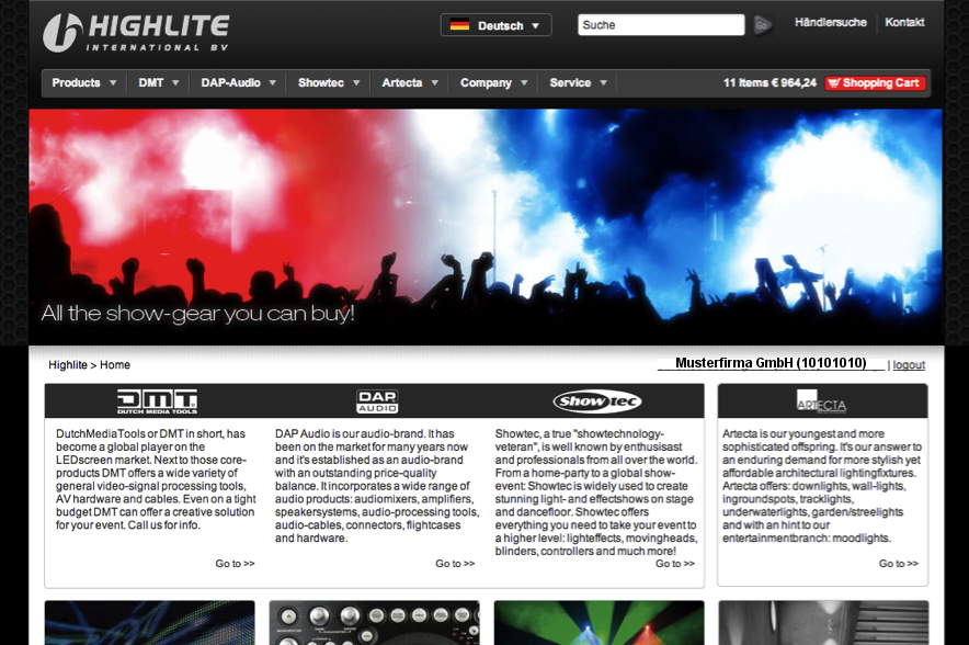 Highlite Homepage