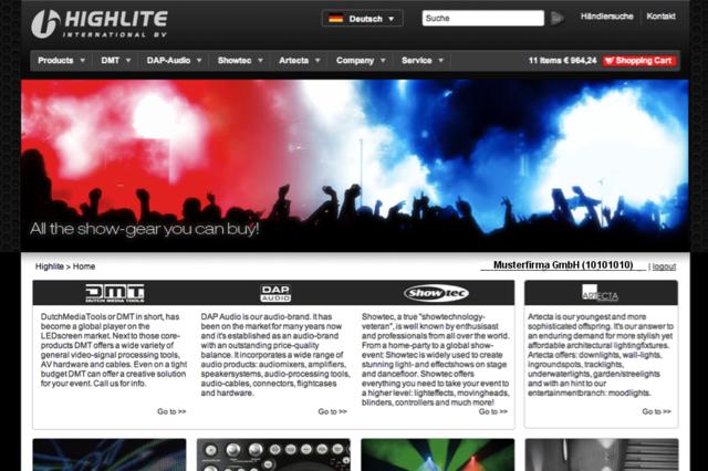 Highlite Homepage