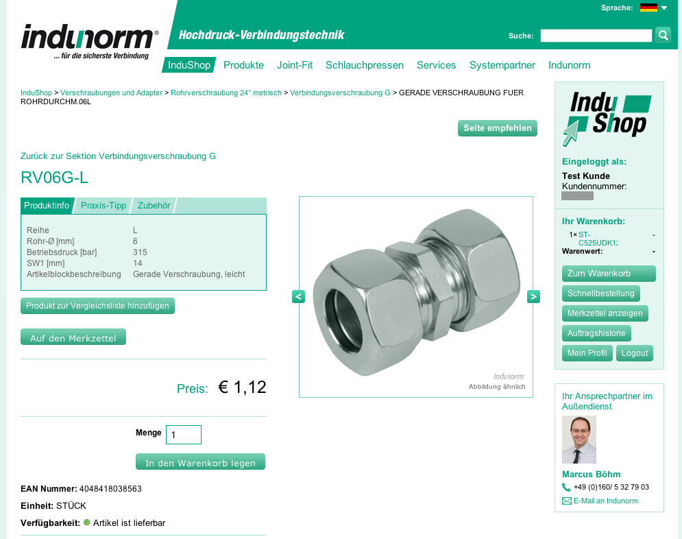 Indunorm product detail