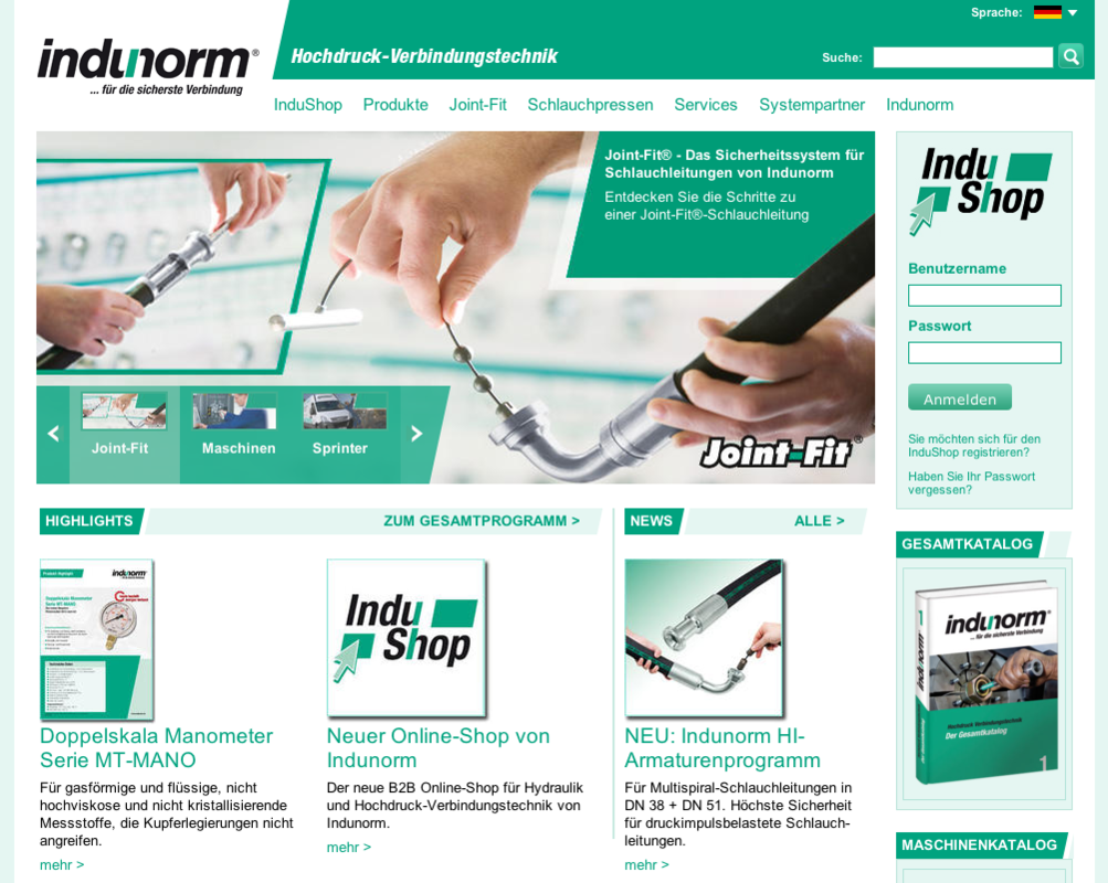 Indunorm Homepage