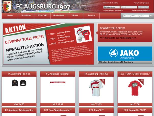 FCA Fanshop Homepage