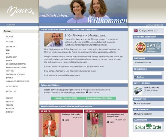 Maas Natur Homepage
