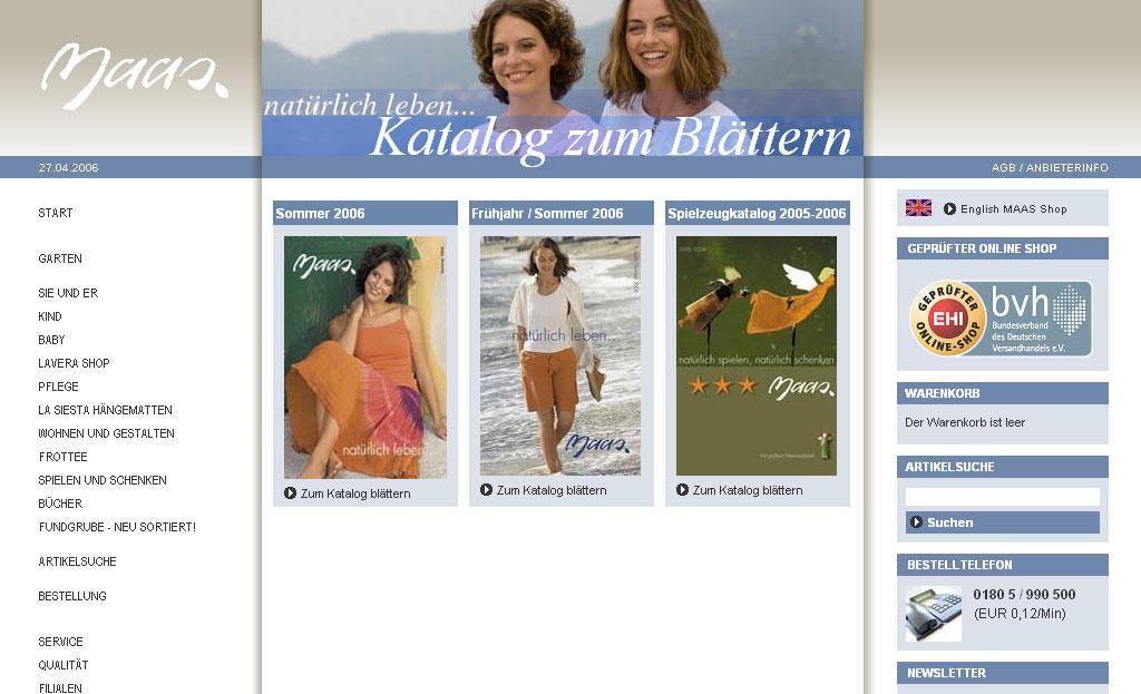 Maas Natur Katalog