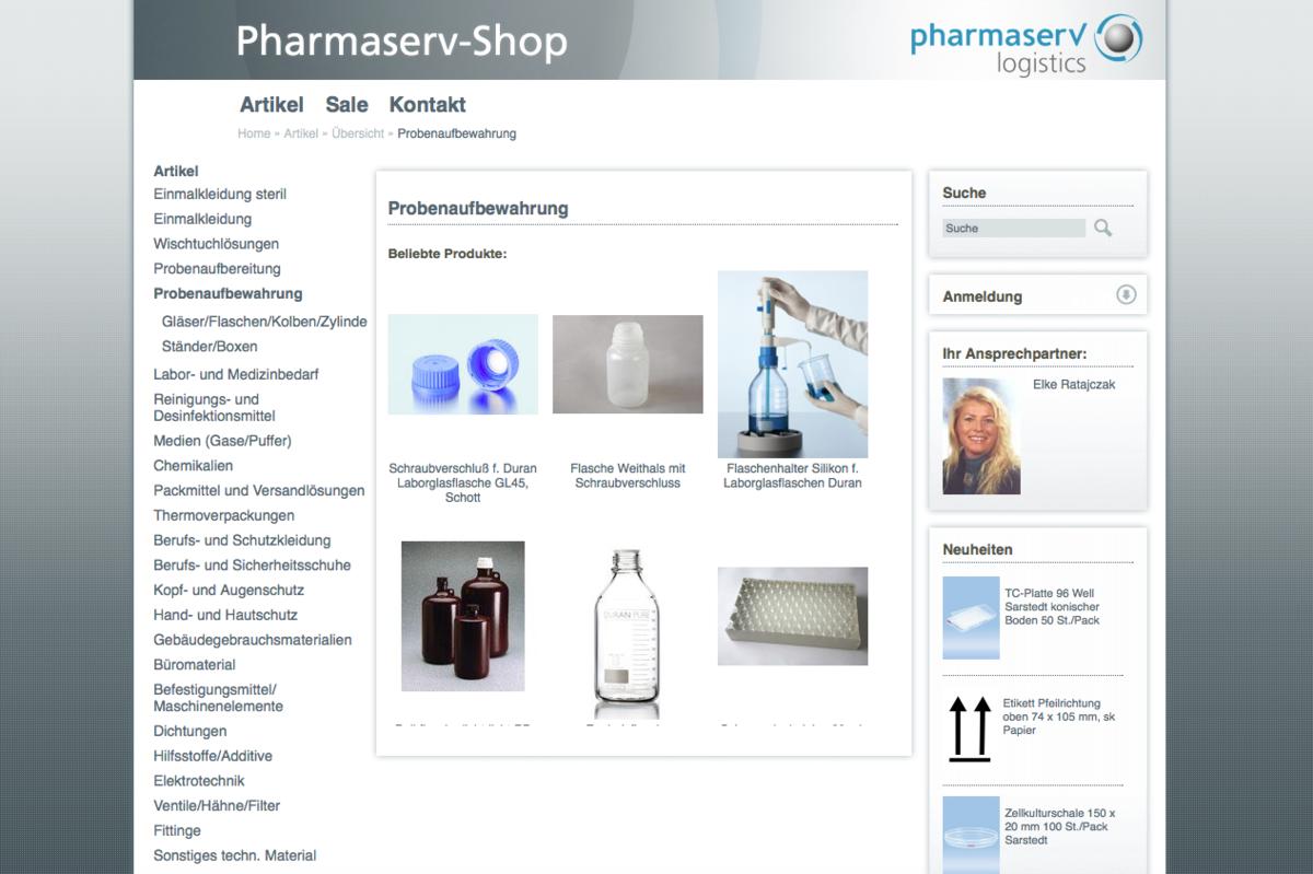 Pharmaserv Shop Produktgruppe