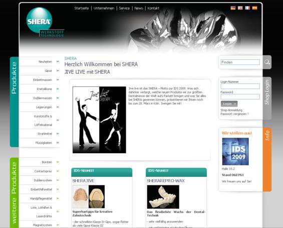 Shera Homepage 2009
