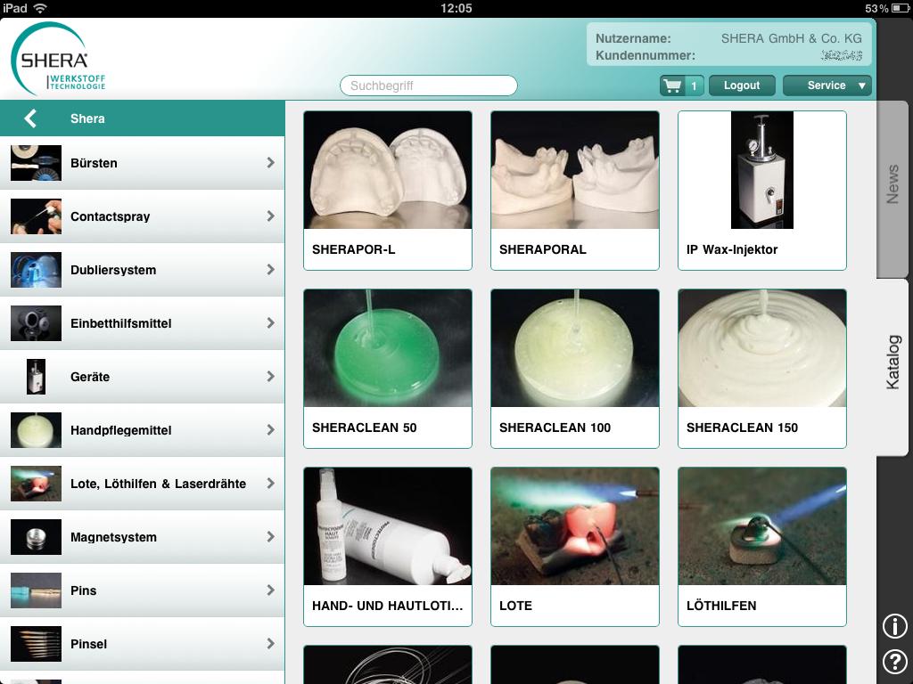 iPad App – Produktübersicht