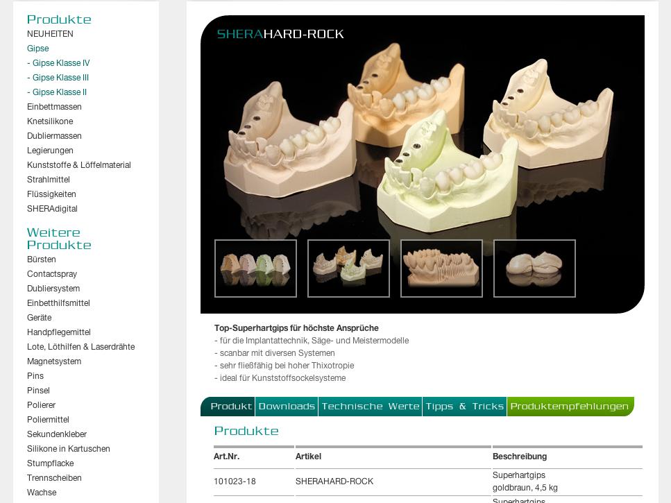 SHERA Produktdetail 2012