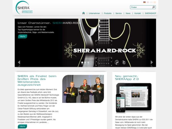 SHERA Startseite 2012