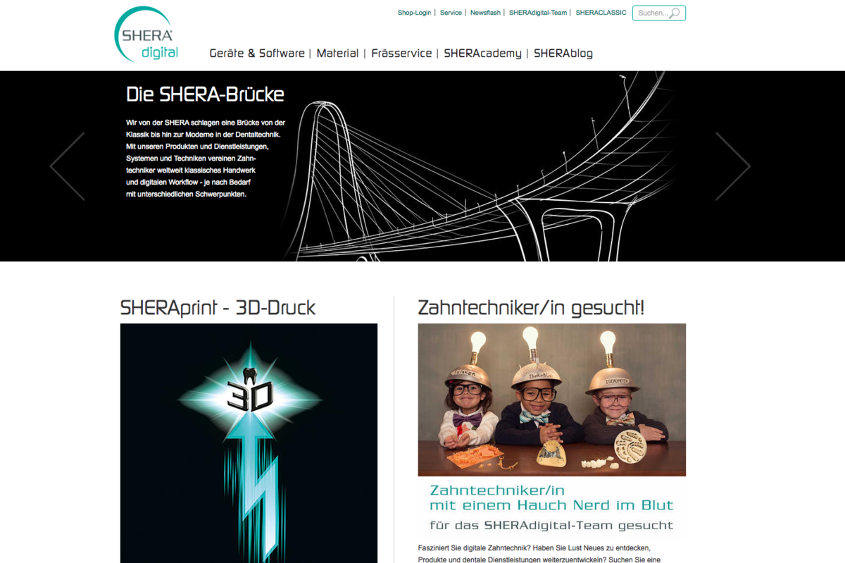 Shera Digital Homepage