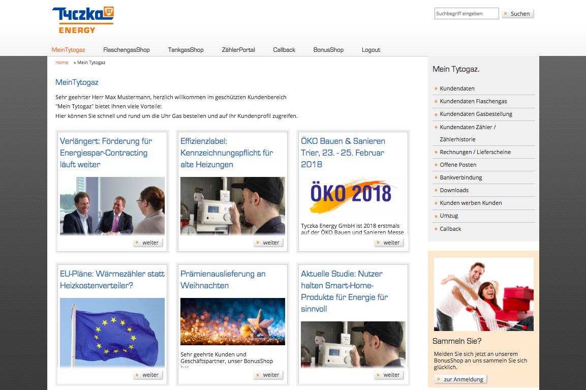 Tyczka Energy Onlineservice
