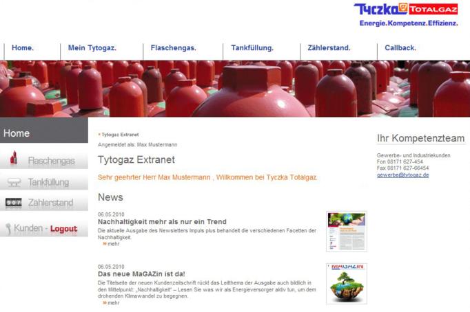 Tyczka Totalgaz Homepage