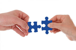 Webinar Händlerintegration Puzzle Hände