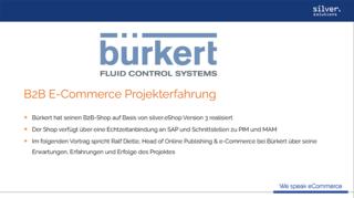 Bürkert Video E-Commerce-Strategie