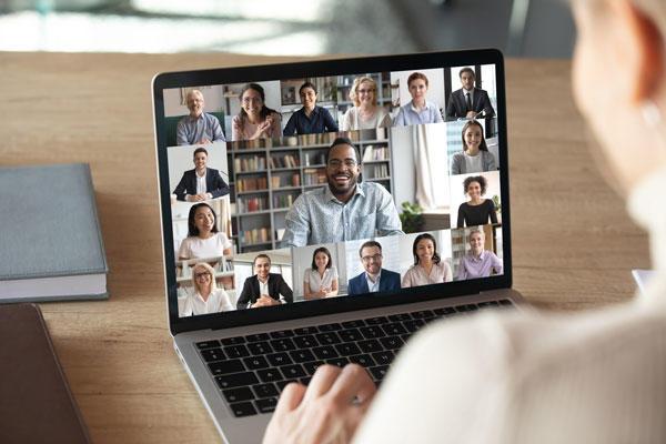 Digitale Konferenz Menschen im Videocall