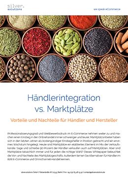Whitepaper-Cover Händlerintegration vs. Marktplätze, Best Practives für Hersteller und Händler
